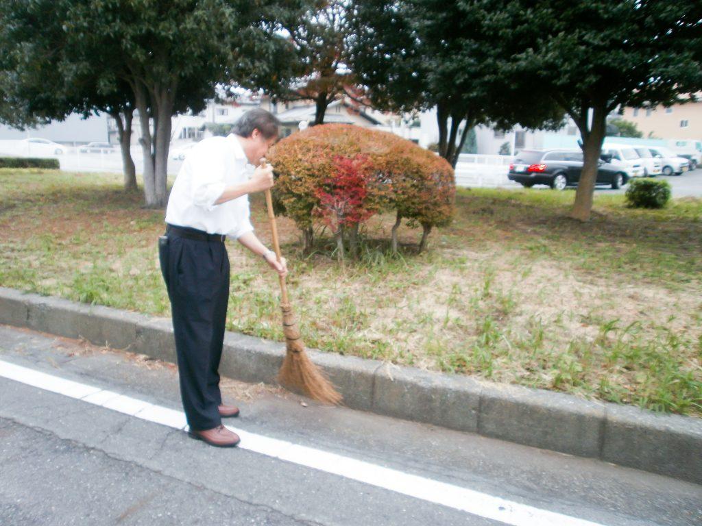 毎朝の清掃活動